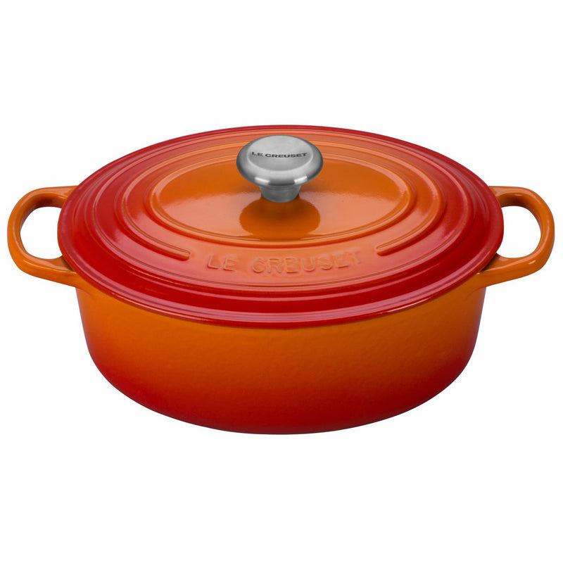 Le Creuset 2 3/4 Qt. Signature Oval Dutch Oven w/Stainless Steel Knob - Flame