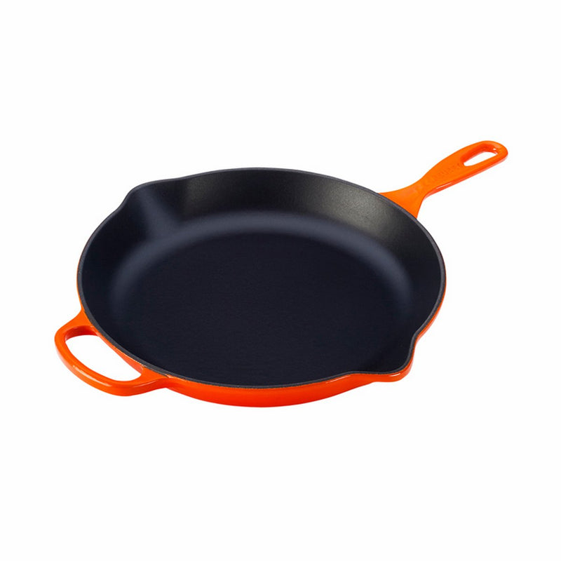 "Le Creuset 11 3/4"" (2 3/8 Qt.) Signature Iron Handle Skillet - Flame"
