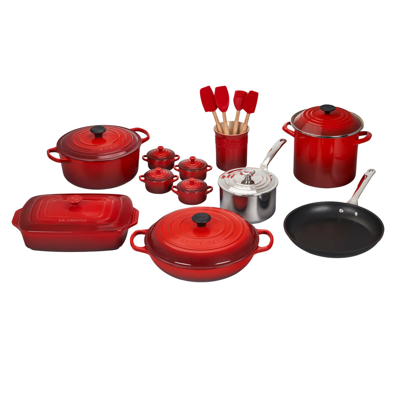 Le Creuset 20 Piece Mixed Material Set - Cerise