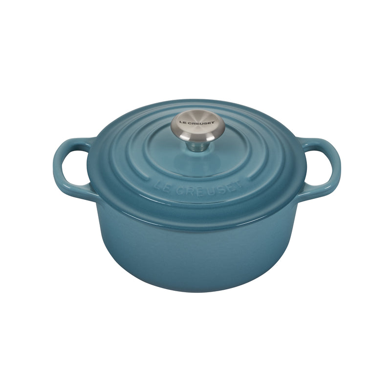 Le Creuset 2 Qt. Signature Round French Oven w/Stainless Steel Knob - Caribbean