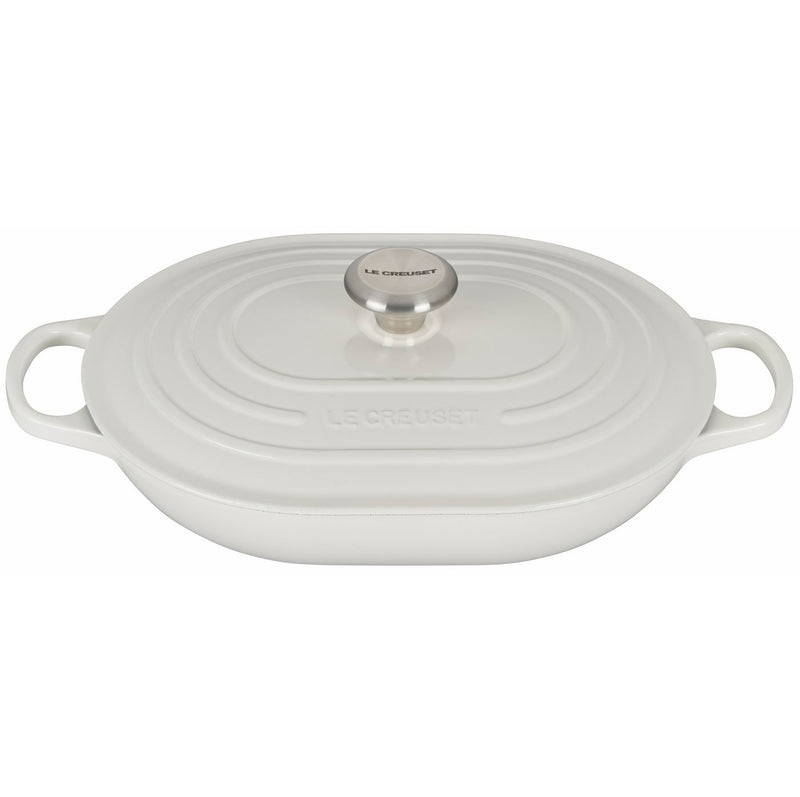Le Creuset 3 3/4 Qt. Signature Oval Casserole w/Stainless Steel Knob - White