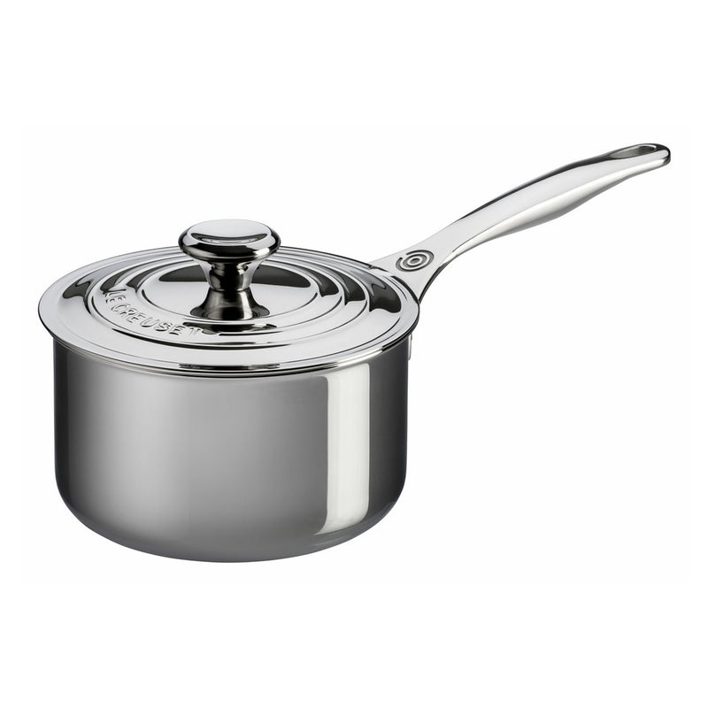 Le Creuset 3 Qt. Saucepan with Lid - Stainless Steel