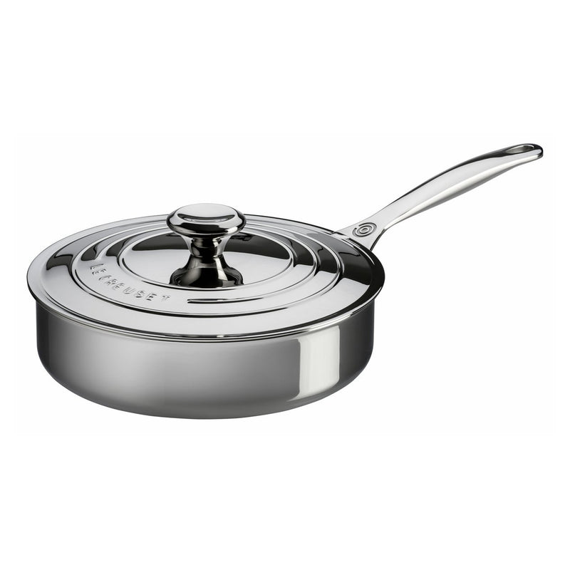 Le Creuset 3 Qt. Sauté Pan with Lid - Stainless Steel