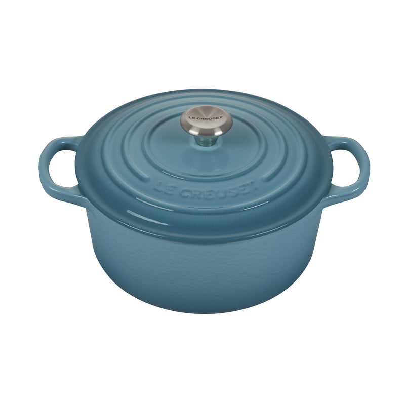 Le Creuset 3 1/2 Qt. Signature Round French Oven w/Stainless Steel Knob - Caribbean