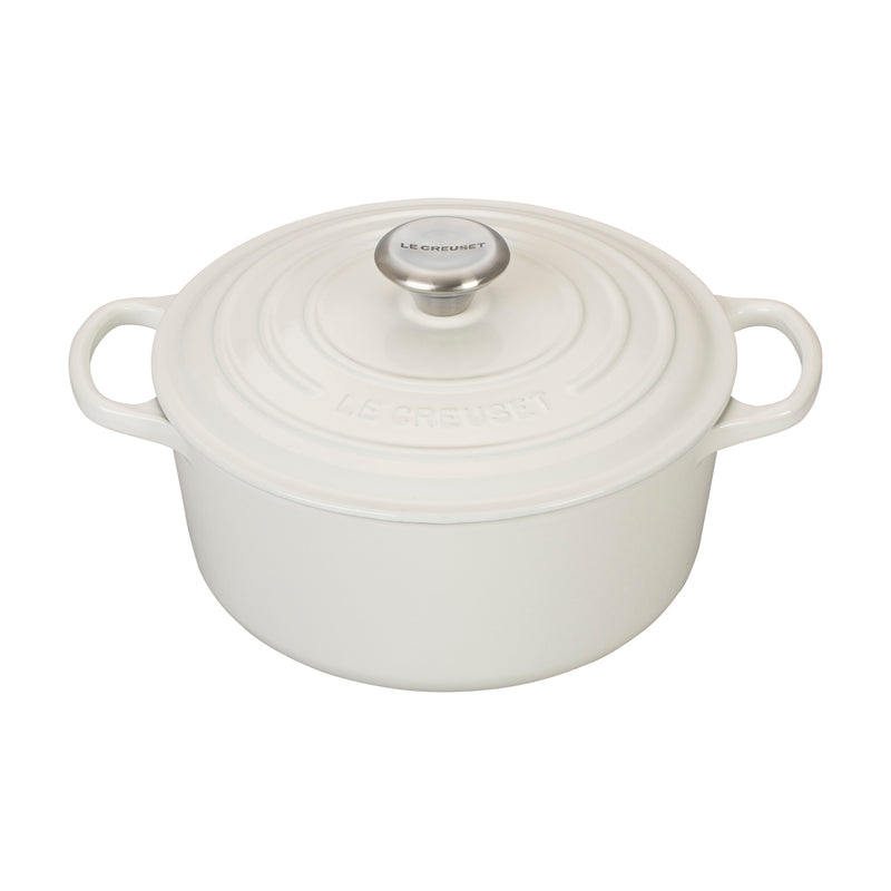Le Creuset 4 1/2 Qt. Signature Round Dutch Oven - White