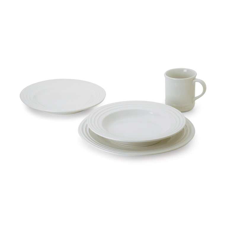 Le Creuset 4 Piece Dinnerware Set - White