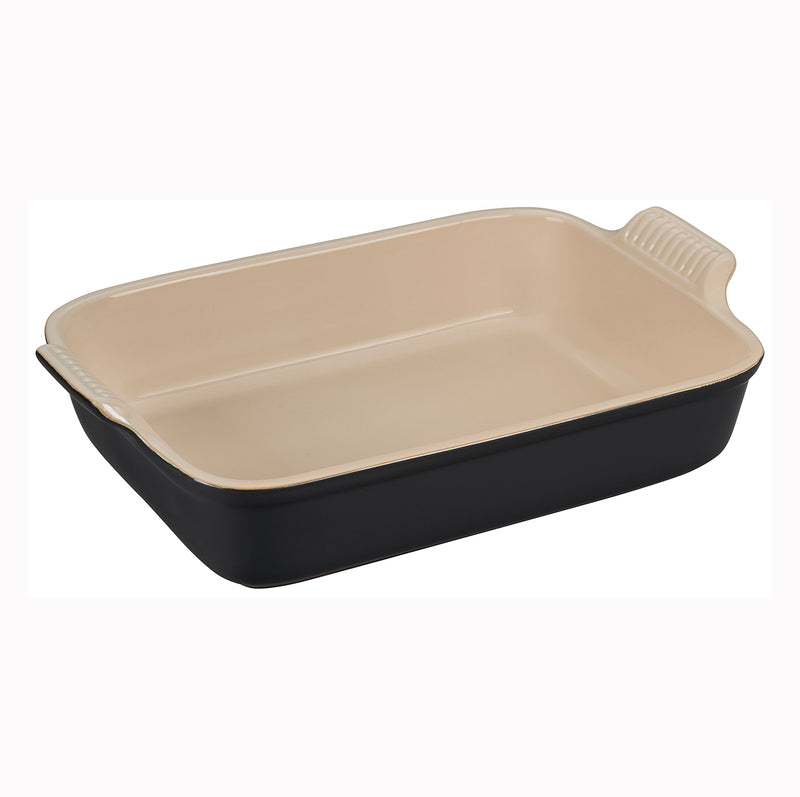 "Le Creuset 4 Qt. (12"" x 9"") Heritage Rectangular Dish - Licorice"