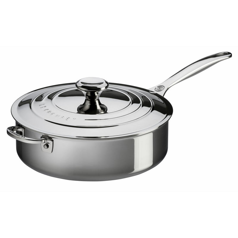 Le Creuset 4.5 Qt. Sauté Pan with Lid & Helper Handle - Stainless Steel