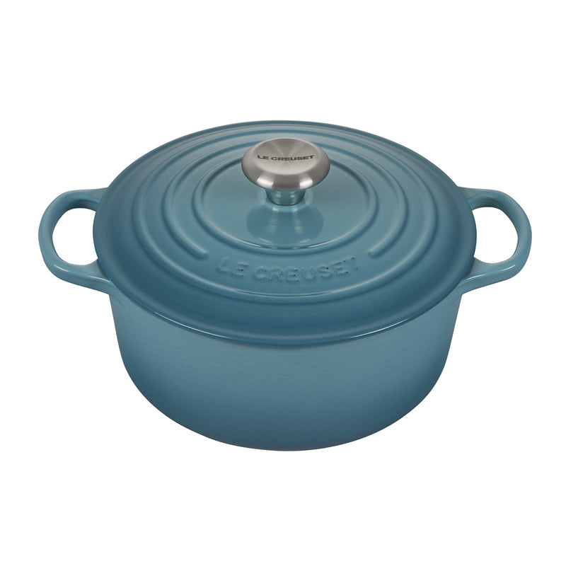 Le Creuset 4 1/2 Qt. Signature Round French Oven w/Stainless Steel Knob - Caribbean