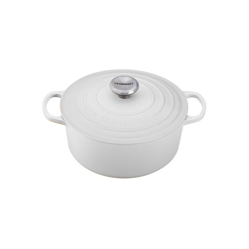 Le Creuset 5 1/2 Qt. Signature Round French Oven - White