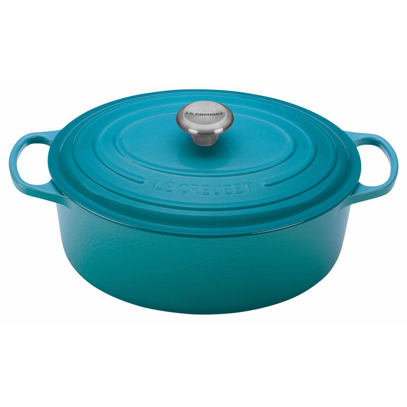 Le Creuset 5 Qt. Signature Oval French Oven w/Stainless Steel Knob - Caribbean