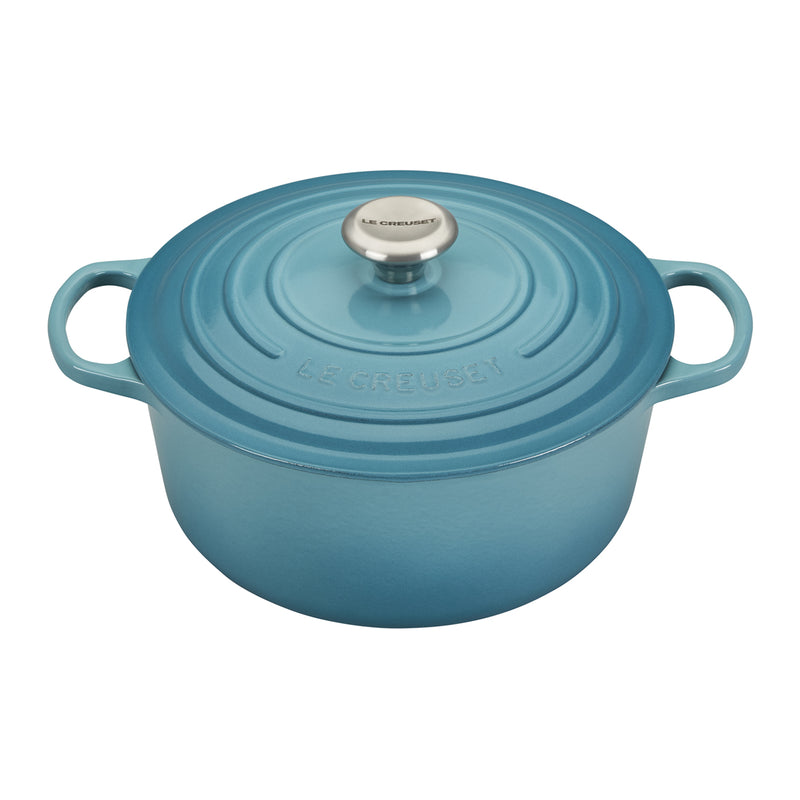 Le Creuset 5 1/2 Qt. Signature Round French Oven w/Stainless Steel Knob - Caribbean