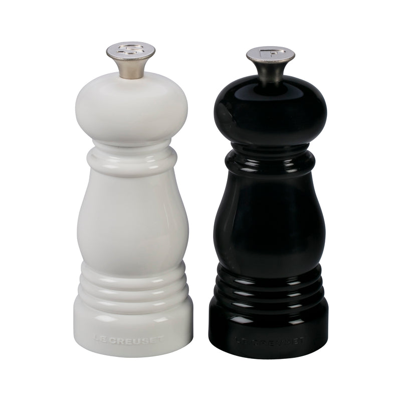"Le Creuset 5"" x 2"" Petite Salt and Pepper Mill Set - Black & White"