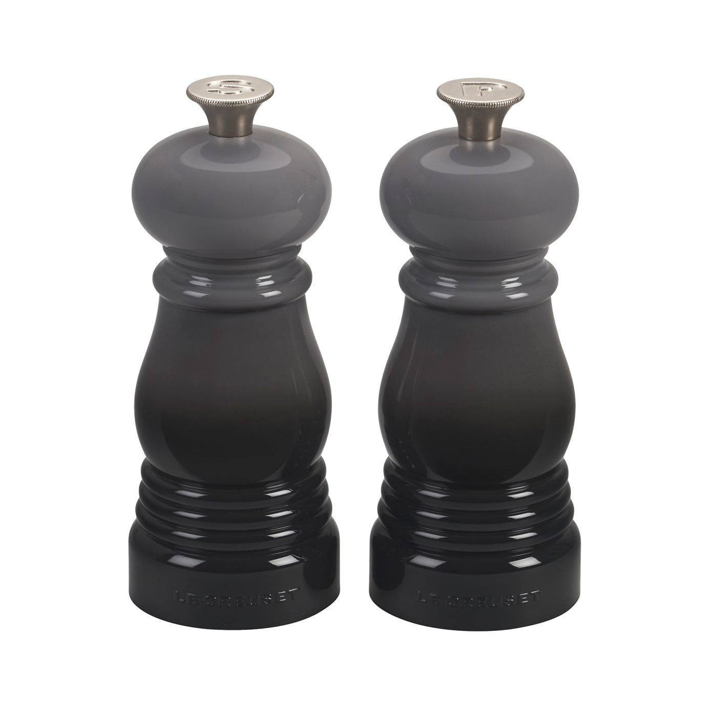 """Le Creuset 5"""" x 2"""" Petite Salt and Pepper Mill Set - Oyster"""