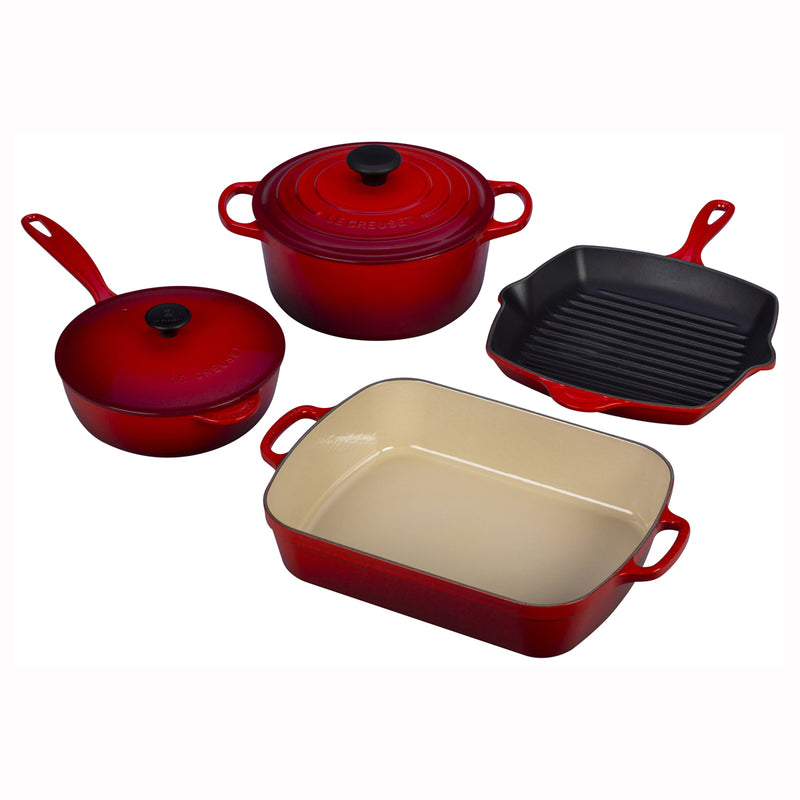 Le Creuset 6 Piece Signature Set - Cherry