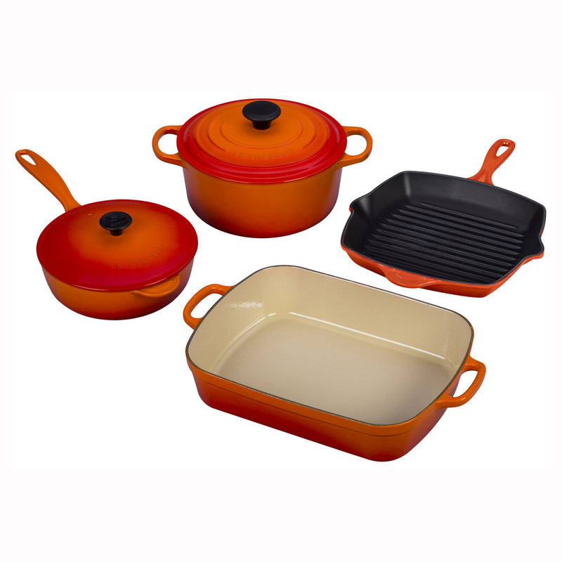 Le Creuset 6 Piece Signature Set - Flame