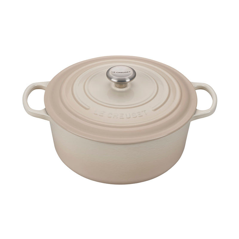 Le Creuset 7 1/4 Qt. Signature Round Dutch Oven - Meringue