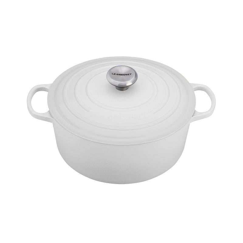 Le Creuset 7 1/4 Qt. Signature Round French Oven - White