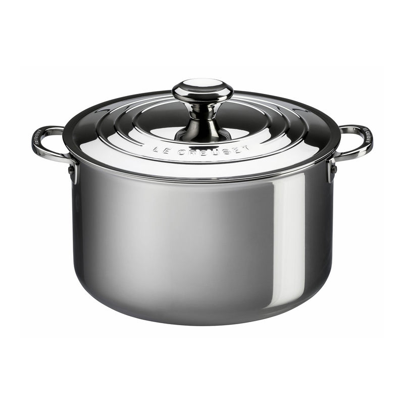 Le Creuset 7 Qt. Stockpot with Lid - Stainless Steel