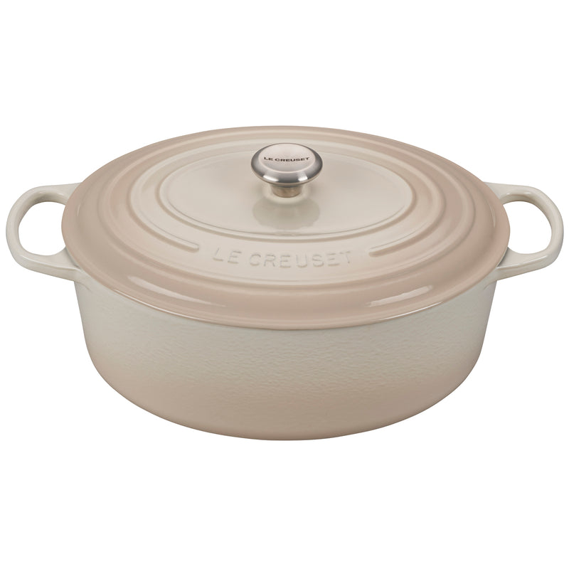 Le Creuset 9 1/2 Qt. Signature Oval Dutch Oven - Meringue