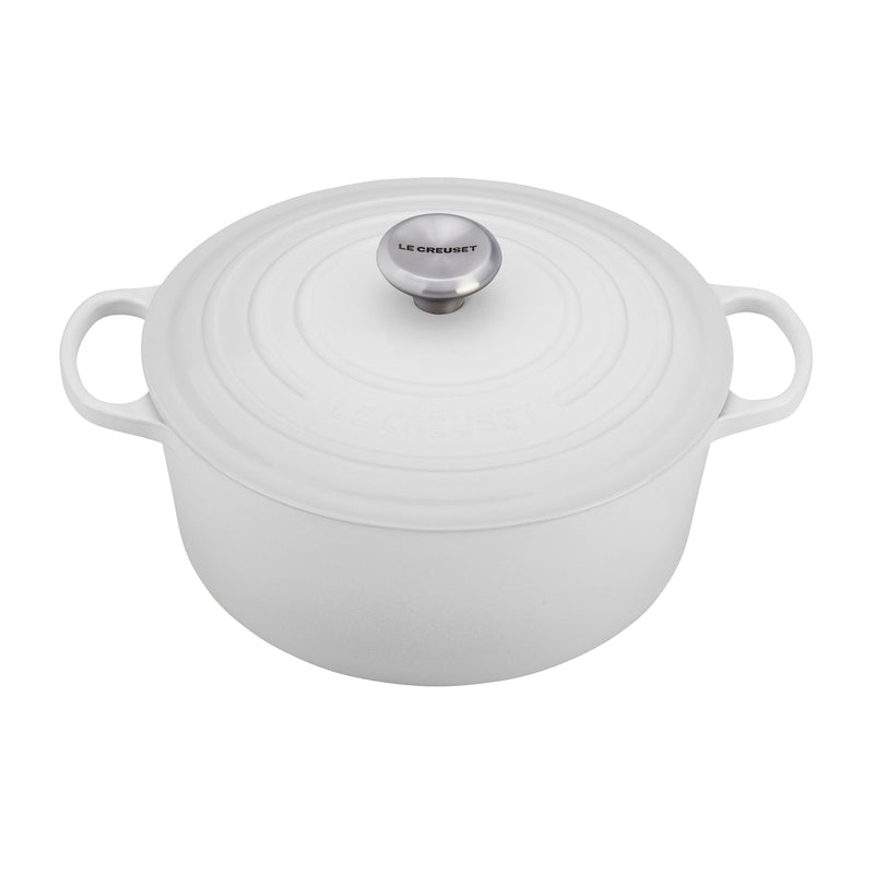 Le Creuset 9 Qt. Signature Round French Oven - White