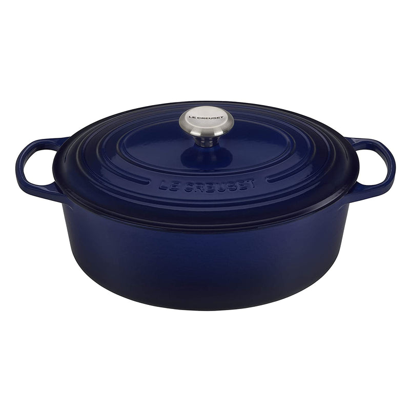 Le Creuset 9.5 qt. Signature Oval Dutch Oven - Indigo