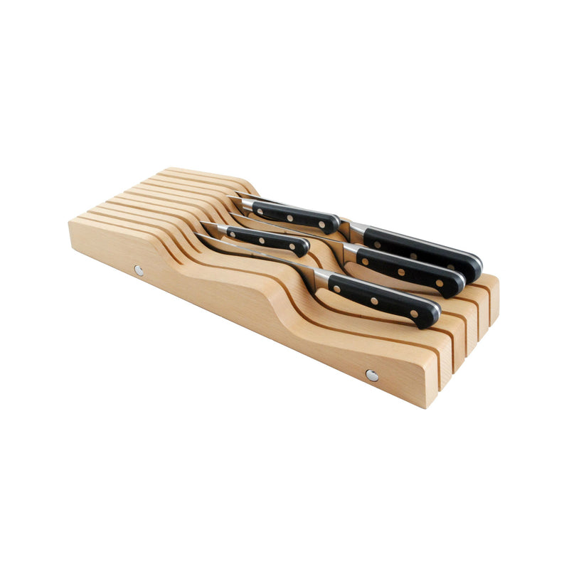 Messermeister - 11 Slot In Drawer Knife Holder - Beechwood