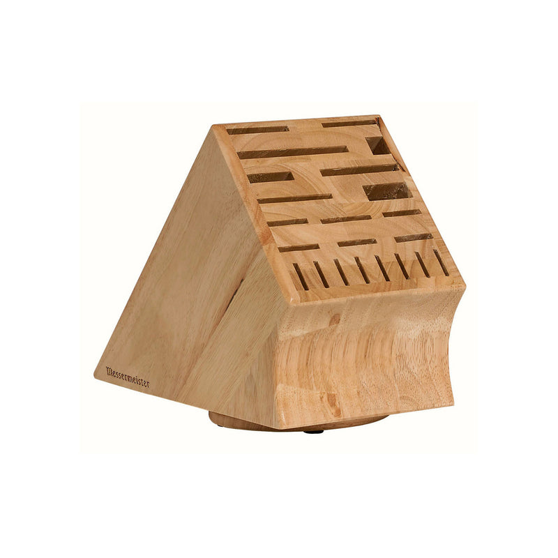 Messermeister 22 Slot Swivel Base Wood Knife Block