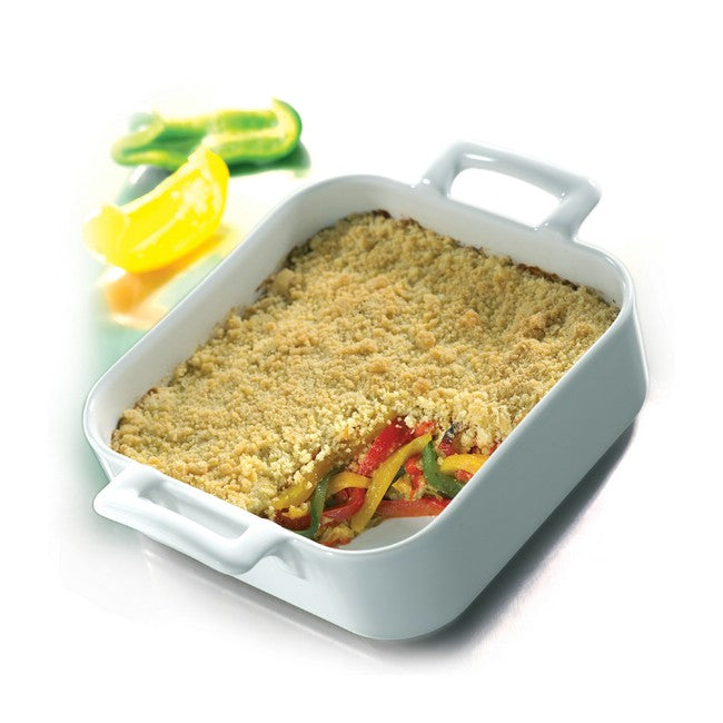 Revol Belle Cuisine Deep Square Baking Dish 1.6L - White