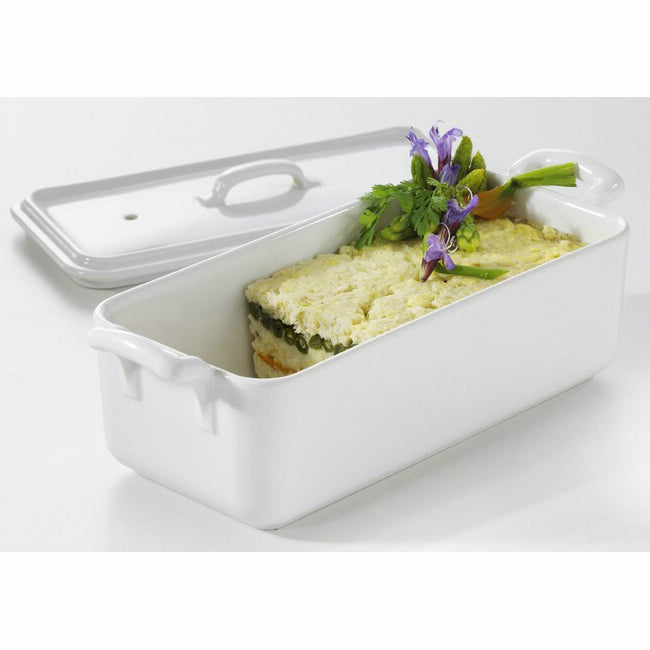 Revol Belle Cuisine Rectangular Terrine With Lid 1L - White