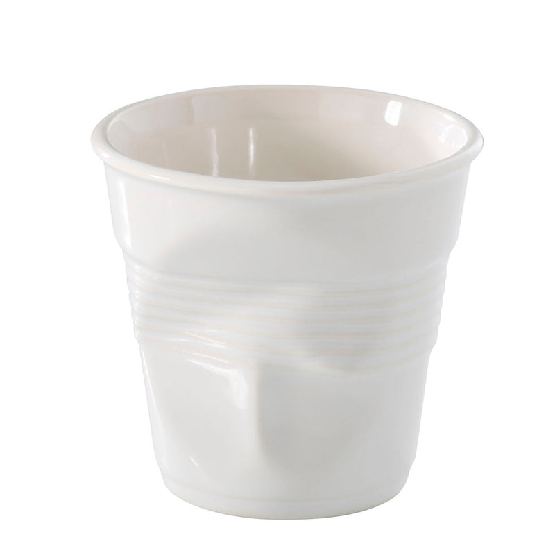Revol Froisses - 11 3/4 oz. Breakfast Crumpled Tumbler - White