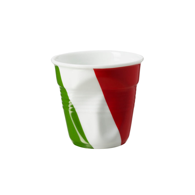 Revol Froisses - 2 3/4 oz. Decorated Espresso Crumpled Tumbler - Italian Flag