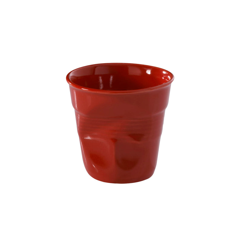 Revol Froisses - 2 3/4 oz. Espresso Crumpled Tumbler - Pepper Red
