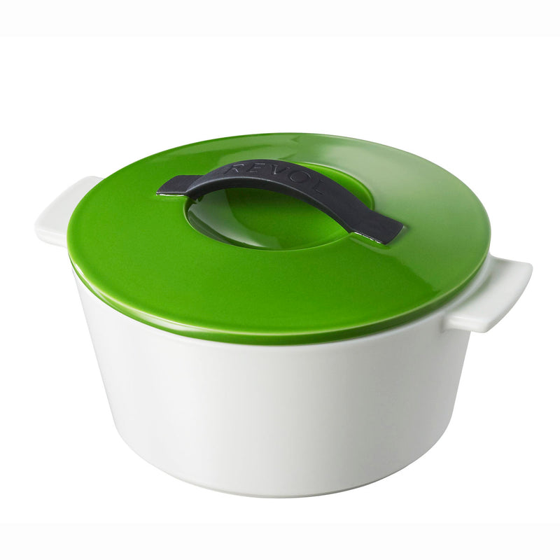 Revol Revolution 1.75 Qt Round Cocotte w/Lid - Lime Green