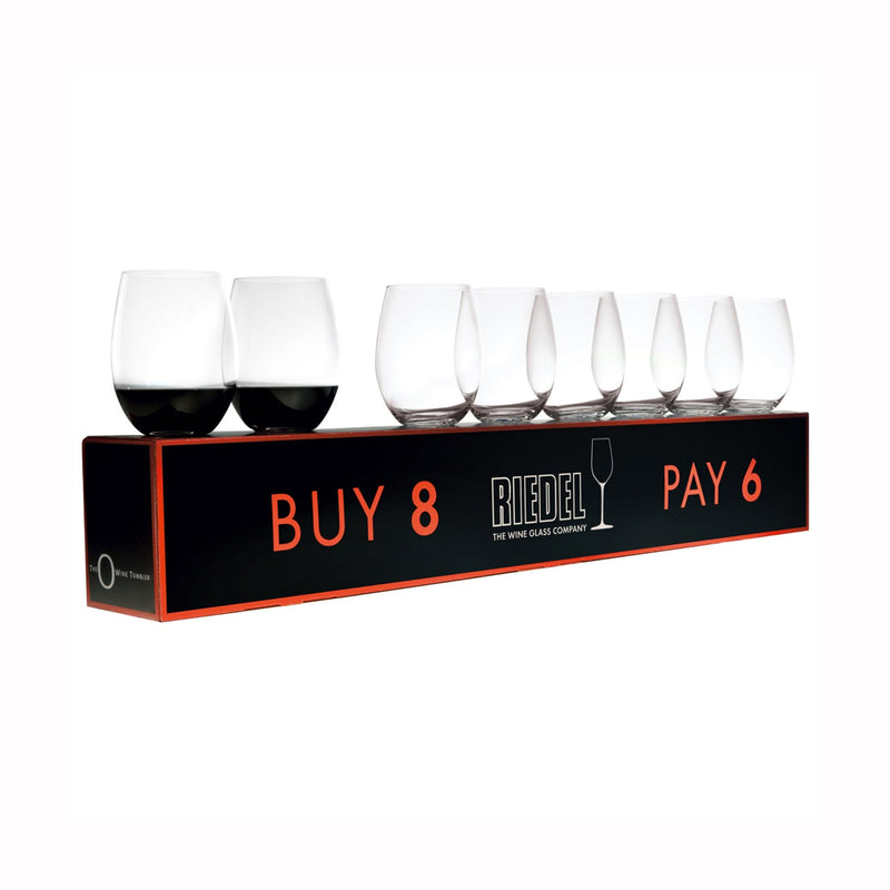 Riedel O Cabernet/Merlot Buy 8 Pay 6 Glasses - Set of 8