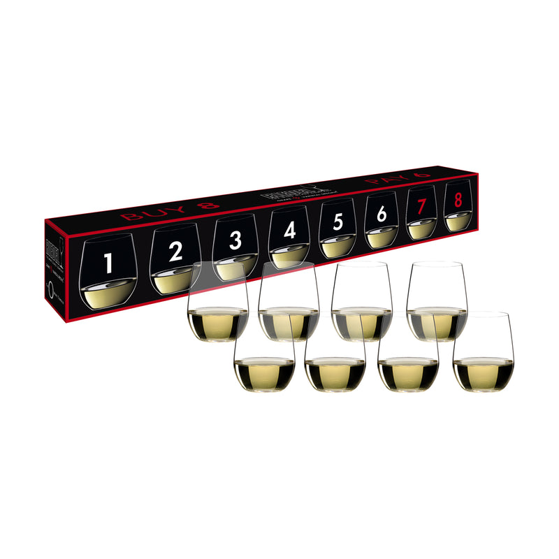 Riedel O Viognier/Chardonnay Buy 8 Pay 6 Glasses - Set of 8