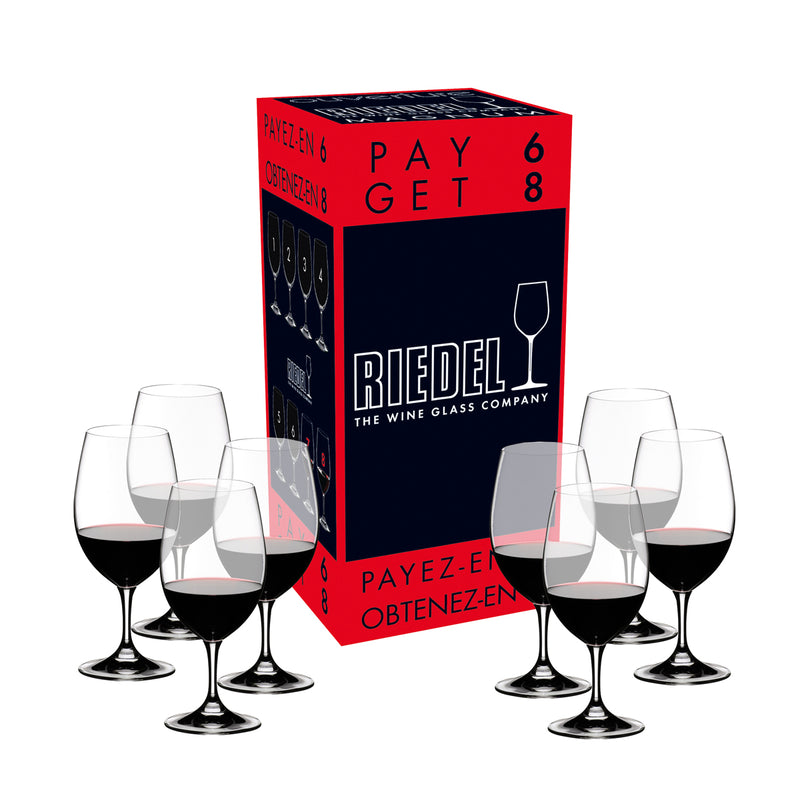 Riedel Ouverture Magnum Pay 6 Get 8 Glasses - Set of 8