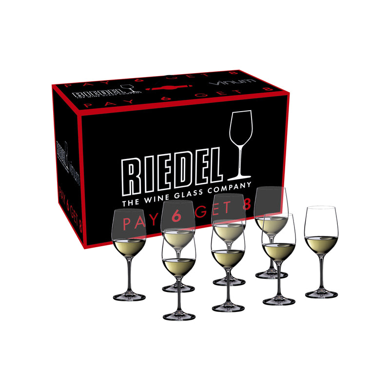 Riedel Vinum Viognier/Chardonnay Pay 6 Get 8 Glasses - Set of 8