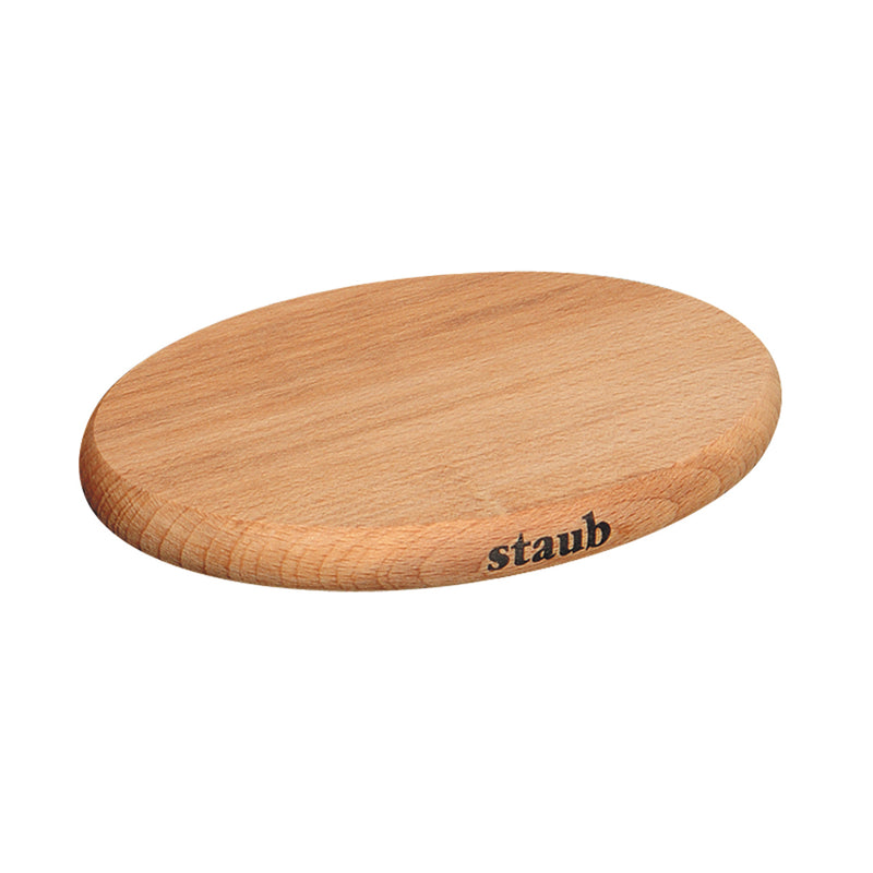 "Staub Magnetic Wooden Trivet - 11.375"" - Large - Oval"