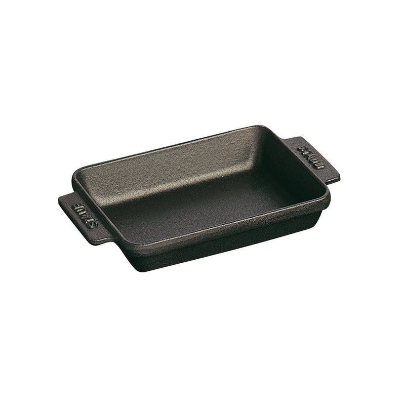 "Staub Mini Rectangular Dish - 5 3/4 "" x 4 1/2 "" - 8oz - Black Matte"
