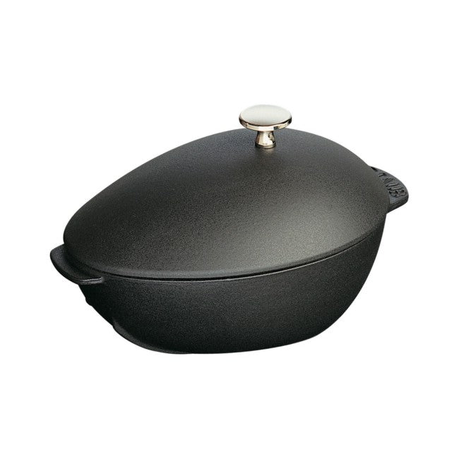 Staub Mussel Pot - 2Qt - Black Matte With Knob