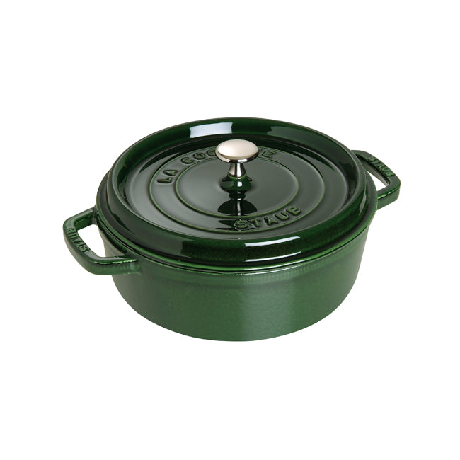 Staub Wide Round Shallow Cocotte - 6Qt - Basil