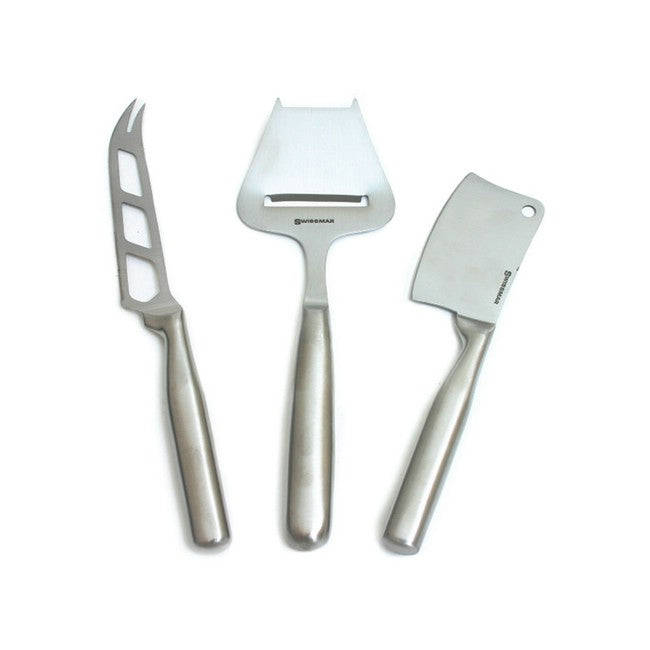 Swissmar Stainless Steel 3Pc Cheese Knife Set