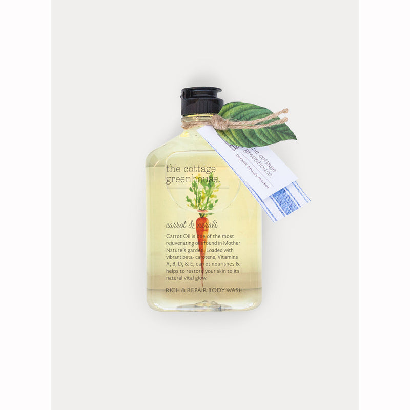 The Cottage Greenhouse 11.5 oz Carrot & Neroli Rich & Repair Body Wash