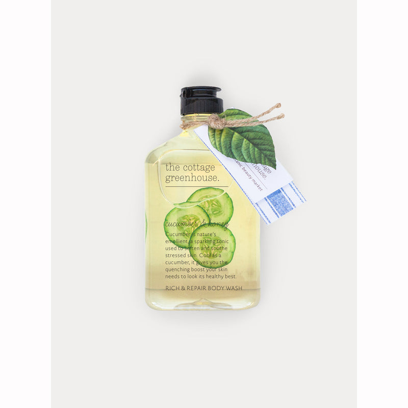 The Cottage Greenhouse 11.5 oz Cucumber & Honey Rich & Repair Body Wash