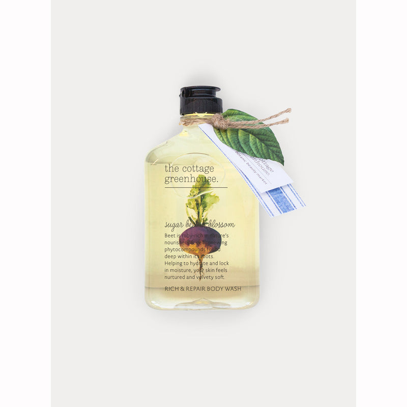 The Cottage Greenhouse 11.5 oz Sugar Beet & Blossom Rich & Repair Body Wash