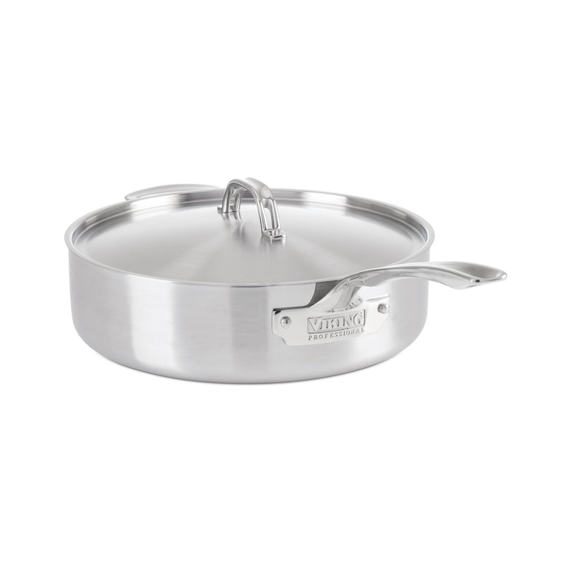 Viking 5-Ply Professional - 6.4 Qt. Saute Pan w/Lid - Satin Finish
