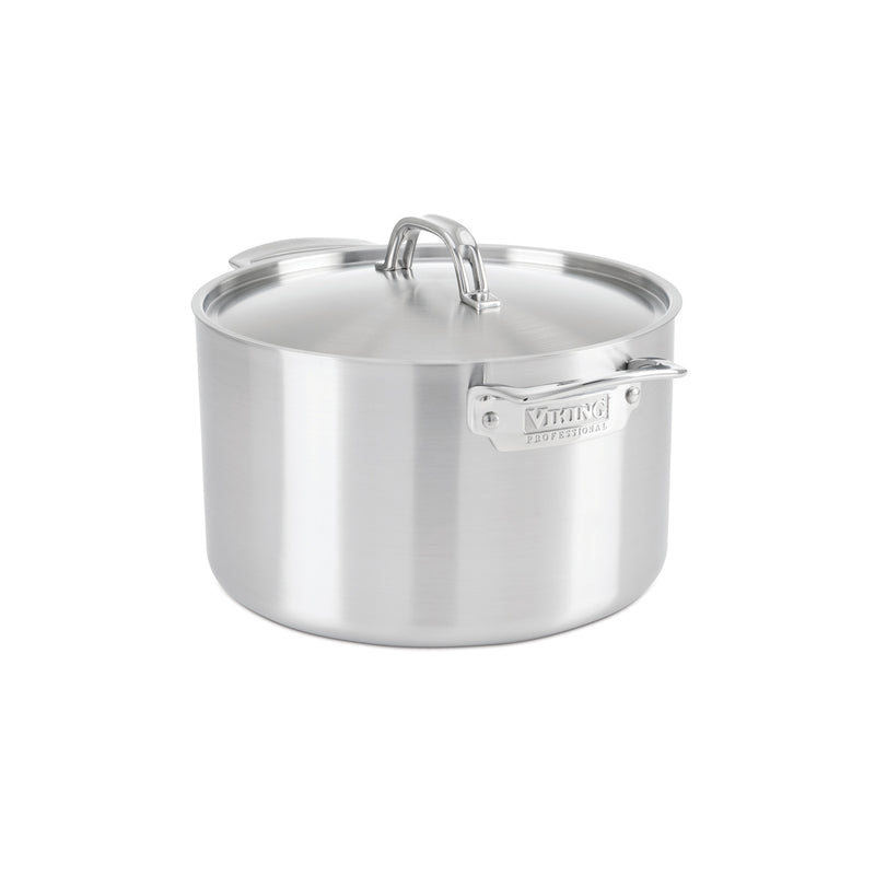 Viking 5-Ply Professional - 8 Qt. Stock Pot w/Lid - Satin Finish