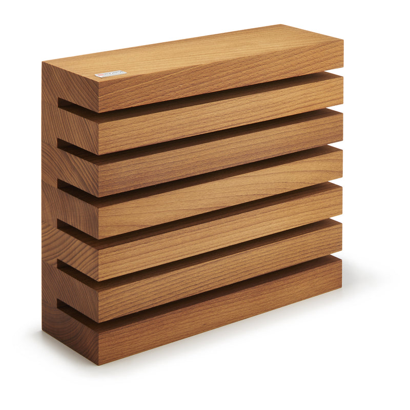 "Wusthof Thermo-Beechwood Magnetic Slots Knife Block (9"" x 10"" x 3"")"