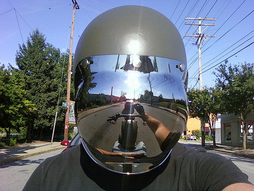 Viseira Bolha Cromada Bubble Shield Chrome Mirror
